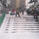 Čištění schodiště u Kalače